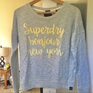 Superdry new without tags French terry sweatshirt